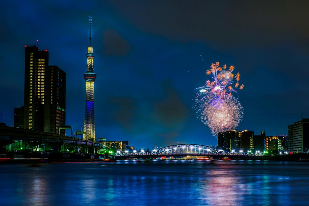 A Dance of Color on the Starry Night Sky, Sumida River Fireworks Festival
