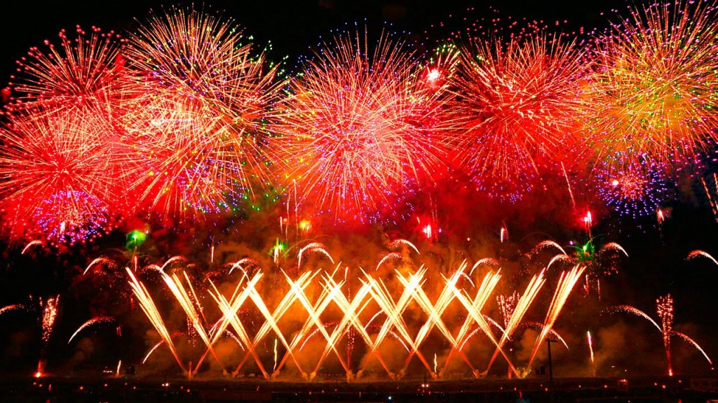 Battle of the Blazing Flowers ~ National Fireworks Contest  (Omagari Fireworks)